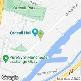 Map of Ordsall Hall Weddings in Salford, lancashire