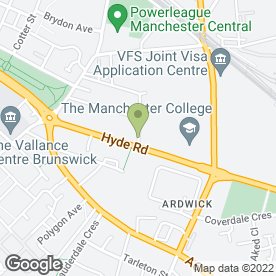 Map of Manchester Vehicle Solution Ltd in Manchester, lancashire