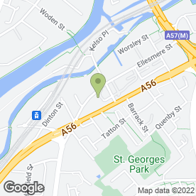 Map of National Tyres and Autocare in Manchester, lancashire