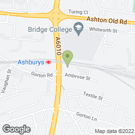 Map of Marco Reas Ice Cream Manufacturers in Manchester, lancashire