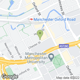 Map of Blue Ginger in Manchester, lancashire