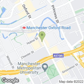 Map of Greggs in Manchester, lancashire