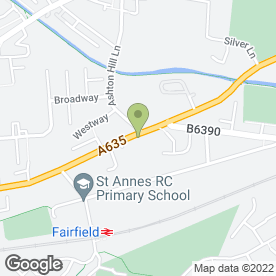 Map of The Fairfield Arms in Audenshaw, Manchester, lancashire