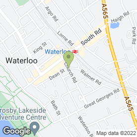 Map of Bling Whitening in Waterloo, Liverpool, merseyside