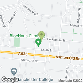 Map of Smiths Equipment Hire in Manchester, lancashire