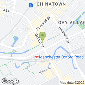 Map of Venus in Manchester, lancashire