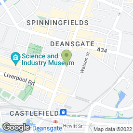 Map of Chapman Law in Manchester, lancashire