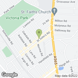 Map of City Pizza in Waterloo, Liverpool, merseyside