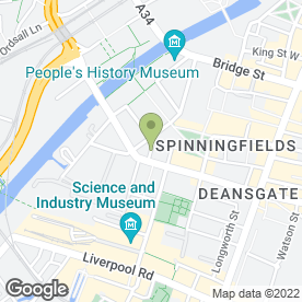 Map of Kings Chambers in Manchester, lancashire