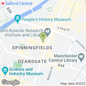 Map of Eat in Manchester, lancashire