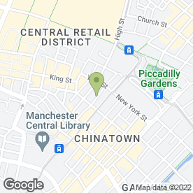 Map of Gecko Social in Manchester, lancashire