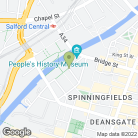 Map of Zizzi in Manchester, lancashire