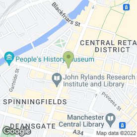 Map of B9 Weddings in Manchester, lancashire