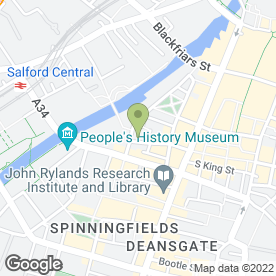 Map of AV Surveyors & Valuers in Manchester, lancashire