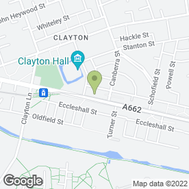 Map of Clayton P.O in Manchester, lancashire
