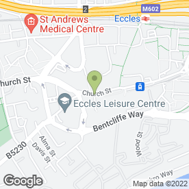 Map of Top Notch Hair & Beauty Salon in Eccles, Manchester, lancashire