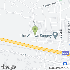 Map of Hot Dogs Pet Grooming in Salford, lancashire
