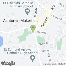 Map of Park Motors in Ashton In Makerfield, Wigan, lancashire