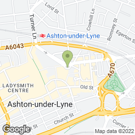 Map of Grade A Jewellery Ltd in Ashton-Under-Lyne, lancashire