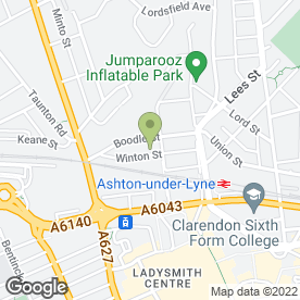 Map of D & R Performance in Ashton-Under-Lyne, lancashire