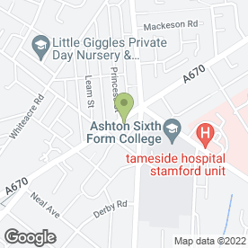 Map of Cottage Tavern in Ashton-Under-Lyne, lancashire