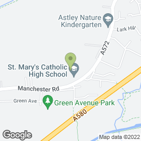 Map of St. Mary's Catholic High School in Astley, Manchester, lancashire