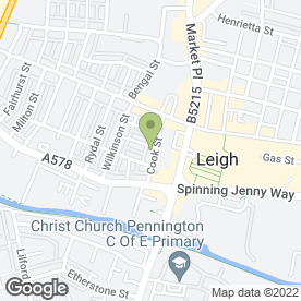 Map of Squirrels Day Nursery in Leigh, lancashire
