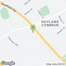 Map of Green on Top in Hoyland, Barnsley, south yorkshire