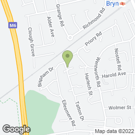 Map of Frost Plumbing & Heating in Ashton In Makerfield, Wigan, lancashire