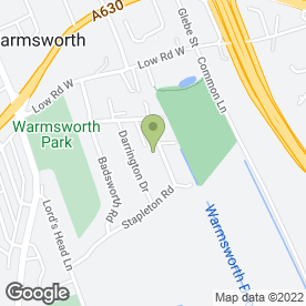 Map of OAKWOOD GARDEN SERVICES in Warmsworth, Doncaster, south yorkshire