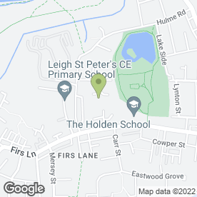 Map of BSLTutorsDirectCIC in Leigh, lancashire