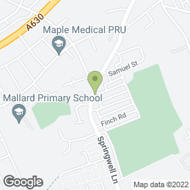 Map of Balby Veterinary Centre in Doncaster, south yorkshire