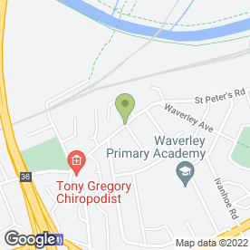 Map of Tony Gregory Chiropodist Ltd in Warmsworth, Doncaster, south yorkshire