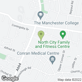 Map of McDonald's Restaurants Ltd in Manchester, lancashire