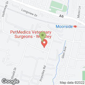 Map of WARDLEY SERVICE CENTRE in Worsley, Manchester, lancashire