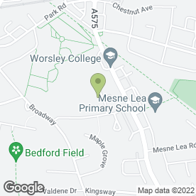 Map of Salford City College in Worsley, Manchester, lancashire