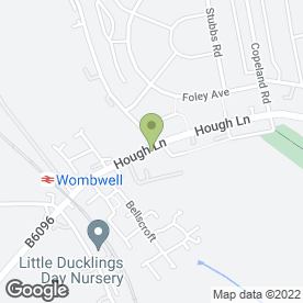 Map of Design Ink Printing Services in Wombwell, Barnsley, south yorkshire