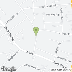 Map of Beauford Wedding Car in Crumpsall, lancashire