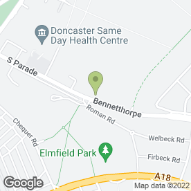 Map of Doncaster Squash & Fitness Club in Doncaster, south yorkshire