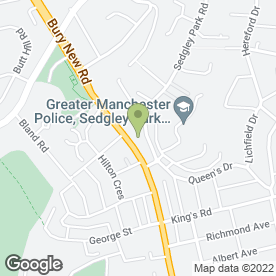 Map of ALEXANDER BURSK in Prestwich, Manchester, lancashire