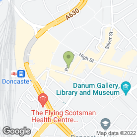 Map of Toast Bar in DONCASTER, south yorkshire