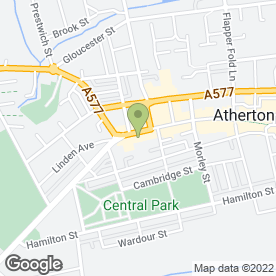 Map of Atherton Dance Centre in Atherton, Manchester, lancashire