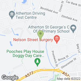 Map of Atherton Valeting Center in Atherton, Manchester, lancashire