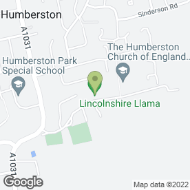 Map of SOUTH BANK ALARMS in Humberston, Grimsby, south humberside