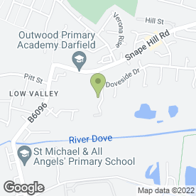 Map of Pete Woods in Darfield, Barnsley, south yorkshire