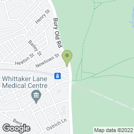Map of Heaton Park Cycles in Prestwich, Manchester, lancashire