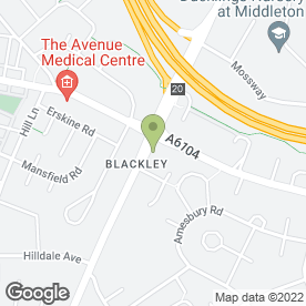 Map of BLACKLEY CARPETS in Manchester, lancashire