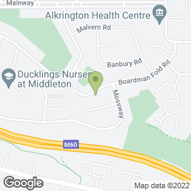 Map of Alkrington Pre School in Middleton, Manchester, lancashire