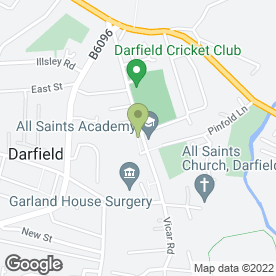 Map of Darfield All Saints Children's Centre in Darfield, Barnsley, south yorkshire