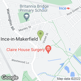 Map of CB Signs & Designs in Ince, Wigan, lancashire